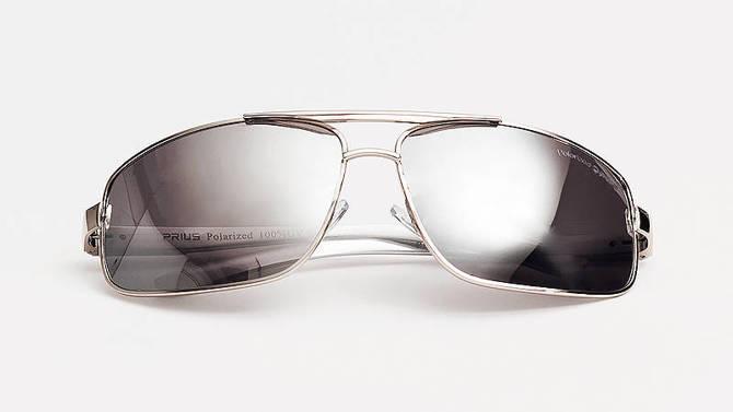Okulary Polaryzacyjne Aviatory Niskie Srebrny 11C3