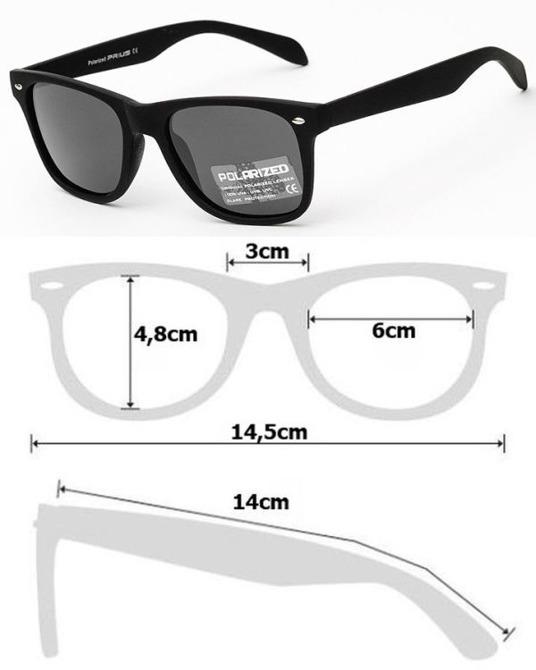 Okulary Polaryzacyjne Przeciwsłoneczne Wayfarer Czarny 865C2-5